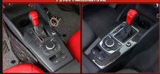 Carbon Fiber Gear Shift Schaltknauf Schalthebel Aufkleber Trim Für Audi A3 L10