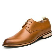 New Mens British Dress Formal Work Oxfords Faux Leather Pointed Toe Shoes Casual