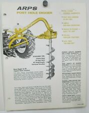 Arps Post Hole Digger Model 103 Price List Sales Brochures Specifications