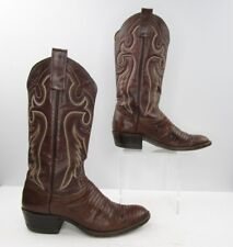 Men's Adams Boot Co. Brown Lizard Leather Cowboy Western Boots Size: 7.5 D