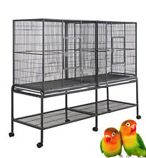 Large Double Birdhouse Treehouse Bird Cage and Flight Breeder Cage With Divider