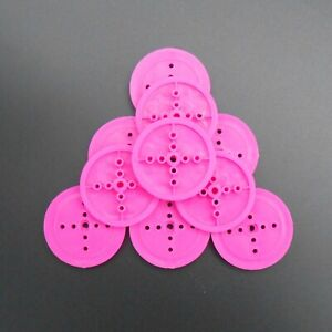 10PCS 36MM 3MM 363A 3A 2.95MM Plastic Perforated Pulley TH 4mm D-shape TT Purple