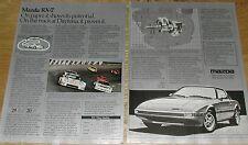 1984 MAZDA RX-7 2-page advertisement, MAZDA RX 7, rotary engine cutaway, Daytona