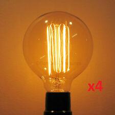 4-Pack Nostalgic 60W Edison Antique G30 Globe Light Bulb, Squirrel Cage Filament