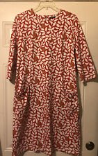J. Mclaughlin Catalyst Dress Coral/White Size XL. Crew Neck. Fitted. Cherrywood