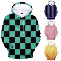 Men Women Hoodie Sweatshirt 3D Demon Slayer Kimetsu no Yaiba Jacket Coat Tops