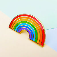 Rainbow Enamel Pin Badge Rainbow Gift for Friends NHS Pride LGBTQ