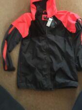Gap Unisex  Rain Jacket / Wind Cheater, Black/ Bright Orange 13yrs New Girl/boy
