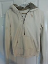 Womens Abercrombie and Fitch hoodie size large faux fur lined hood
