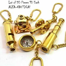 Set of 50 Key-chain Nautical Telescope Compass Whistle Diving ,Cannon Key Rings