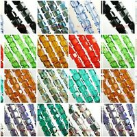 20~100 Charms Cube Faceted Glass Crystal Finding Spacer Loose Beads 6x6mm Colors