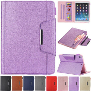 For iPad Mini Air Pro 1 2 3 4 5 6 7 8th Gen Smart Flip Leather Case Cover Wallet
