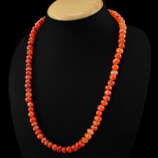 Best Top Grade 275.00 Cts Natural Untreated Orange Carnelian Beads Necklace
