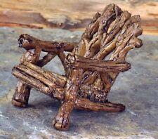 Twig Adirondack Chair for Miniature Fairy Faerie Gnome Garden Dollhouse GO 17226