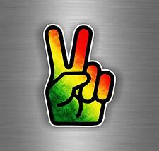 Autocollant sticker voiture rasta  reggae one love lion drapeau jamaique ref21