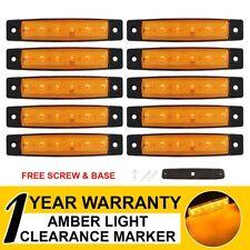 "10 X 6 LED 3.8"" Side Marker Caravan Truck Trailer Boat Amber Tail Light Rear"