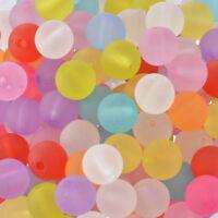 200 Mix Rund Matt Acryl Perlen Beads Kugeln Armband Basteln 10mm hello-jewelry