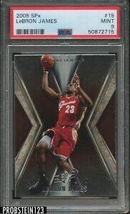 2005-06 Upper Deck UD SPx #15 LeBron James Cavaliers PSA 9 MINT