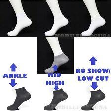 Men Women 9-11 10-13 Sports Socks Crew Ankle Socks Low Cut Socks Lot 3-6-12P