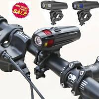 USB Aufladbar MTB Fahrrad Scheinwerfer 5 Modi Taschenlampe Vorne Lampe Cz