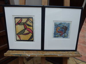 PAIR OF WATERCOLOURS 1950,S LISTED ARTIST MARIA RAJECKA  FREE SHIPPING ENGLAND