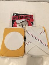 VINTAGE NOS DEFENDER SKATEBOARD VOLLEYBALL SPORTS KNEE PADS YELLOW SIZE XS
