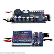 Radio Control UBEC 5V 6V 3A Max 5A Interruptor Modo menor ruido de RF BEC kit para modelos de radio control Herramienta
