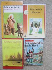 SPANISH LOT 4~El hacha~Julie y los lobos~Tuck para siempre~Robin Hood~PAULSEN~