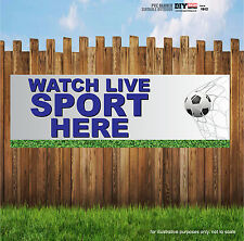 WATCH LIVE SPORT HERE FOOTBALL PUB Indoor and Outdoor PVC Banner Sign
