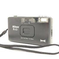 Exc+5 ☆ Nikon AF600 QD Black 35mm Point & Shoot Panorama Film Camera from Japan
