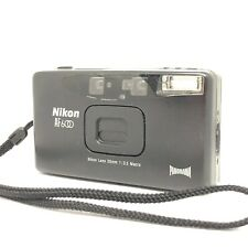 Exc+5 ☆ Nikon AF600 QD Black 35mm Point & Shoot Panorama Film Camera from Japan