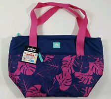 Igloo Cooler Beach Bag, 30 Cans Max Capacity, Palms Design Purple Pink Teal New!