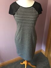 Lavand Grey And Black Stripe Dress Size Large