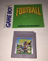 Play Action Football Nintendo GameBoy Game & Instruction Manual