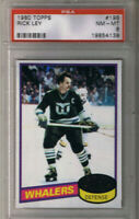 (1.CARD) RICK LEY 1980-81 TOPPS  #198 GRADED PSA (8)