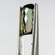 5.7 cts flawless faceted bi-colored Tourmaline checker board cut