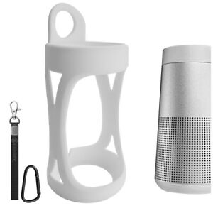 Geekria Silicone Case for Bose SoundLink Revolve Speaker Protective Case (White)