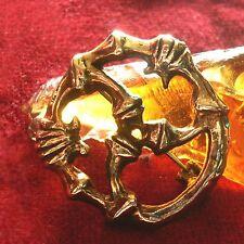 Kelto romano Triskel McGuffey bronce Roman Celtic LARP Brooch Triskelion