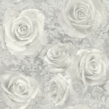 REVERIE ROSE WALLPAPER SILVER - ARTHOUSE 623303 FLORAL