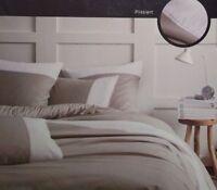 Matt&Rose Bettwäsche Set 2 teilig 135x200cm grau/weiß plissiert 100% Baumwolle