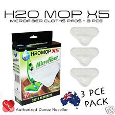Danoz H20 X5 Microfiber Replacement Pads [ 3 PIECE PACK ] + FAST POST