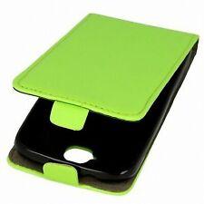 FLIP PROTEZIONE GUSCIO per cellulare Huawei Honor Holly Pelle Verde-Finta SLIM GUSCIO FLEX