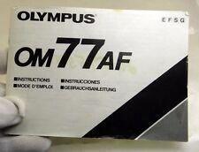 Olympus OM 77AF Camera Owner's Instruction Guide Manual English EN F S G