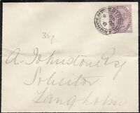 GB QV 1886 1d Lilac Mourning Cover CDS J1730