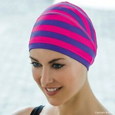 LADIES FABRIC SWIM CAP HAT WITH WIDE HEADBAND BY FASHY 3280 TRENDY FREE POSTAGE