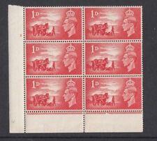 1948 Block Mint - 1d x 6 - Channel Islands Liberation