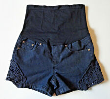 BELLA DIVA {Size S} Lace Embellished Maternity Shorts VERY NICE!