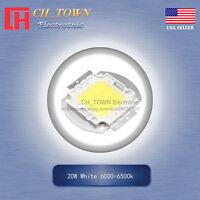 1Pcs 20W Watt High Power White 6000-6500k SMD LED Chip Blub Beads COB Lamp