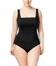 Calvin Klein plus size pleated black one piece swimsuit size 16W