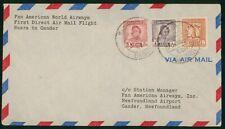 Mayfairstamps Iraq Flight Basra to Gander Pan American Airways Cover wwr_11949